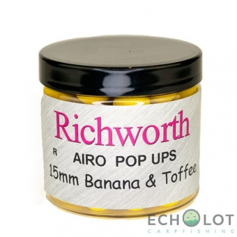 Richworth Airo Pop-Up 15mm., Banana Toffee (банан ирис) плавающие бойлы